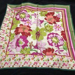 Talbots 100% silk multicolor scarf